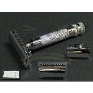 Rasoio lama intera in metallo Platinum manico corto Merkur art. 34001