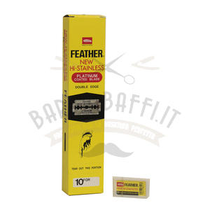 Lama Feather Double Edge stecca 20 pacchetti da 10 lame