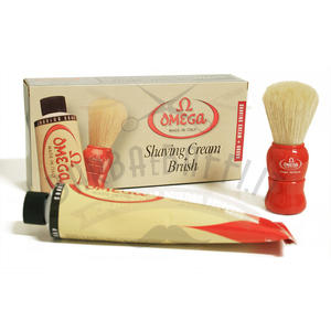 Kit Pennello + Crema barba Omega 45075