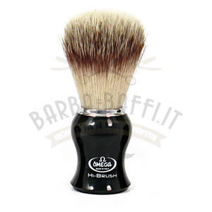Pennello da barba in fibra sintetica HI-BRUSH Omega 0146206