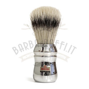 Pennello da Barba Omega Setola Manico cromato 10083