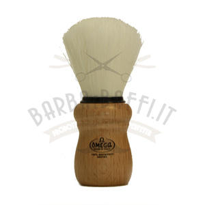 Pennello da Barba Omega Sintex Manico legno 90005