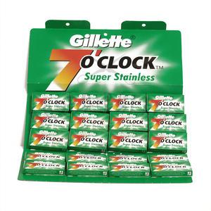 Lametta da barba Gillette 7 o'clock Super Stainless Verde stecca 100 lamette