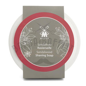 Muhle Ciotola Ceramica Bianca + Sapone 65 gr Sandalo