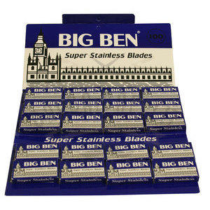 Lamette Big Ben Super Stainless stecca 20 pacchetti da 5 lame