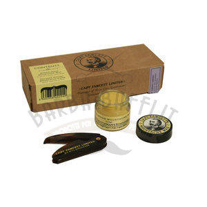 Captain Fawcett Mustache Wax SandalWood 15gr + Folding Comb