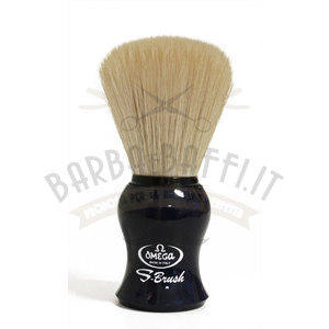 Pennello da barba in fibra sintetica S-Brush Omega S10065 manico blu not