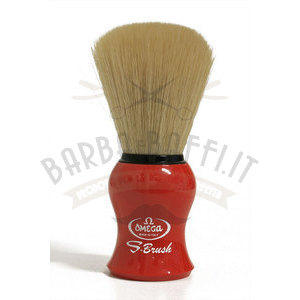 Pennello Barba Omega S10065 manico rosso