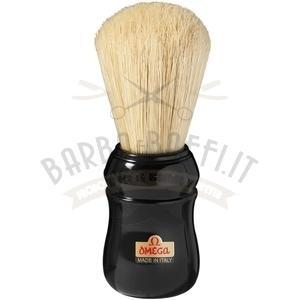 Pennello da barba professionale in pura setola Omega 10049 manico nero