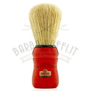 Pennello da Barba professionale Omega manico rosso 49