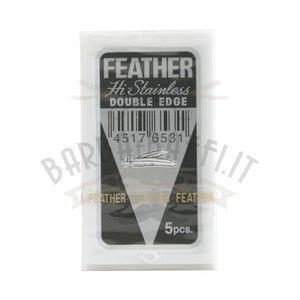 Lama Feather Double Edge Hi Stainless 1 pacchetto da 5 lame