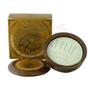 Sapone Barba Coconut Ciotola Legno G.F.T 80 ml