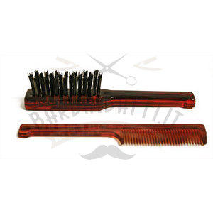 Set Pettine + Spazzola Barba e Baffi