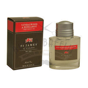 St. James After Shave gel Sandalwood e Bergamotto 100 ml