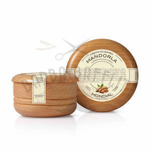 Mondial Crema da Barba Ciotola Legno alla Mandorla150 ml