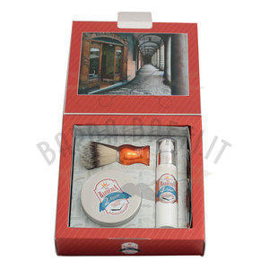 Via Barberia Aquae Set Regalo Pennello+Crema Barba+Fluido Dopobarba