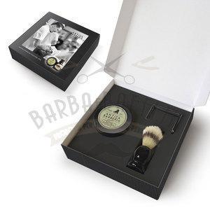 Antica Barberia Set Regalo Crema Barba Balsamica+Pennello + Portapennell