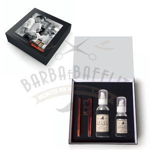 Antica Barberia Set Regalo Cura Barba Shampoo+Tonico+Pettine e Spazzola
