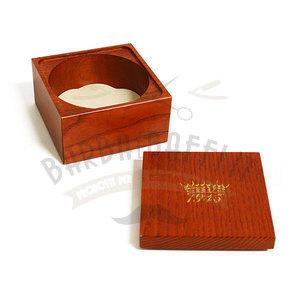 Portaciotola per saponata in Legno Mogano Saponificio Varesino