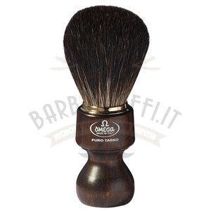 Pennello da barba in tasso Nero Omega 6126