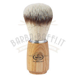 Pennello da barba in fibra sintetica HI-BRUSH Omega 46150