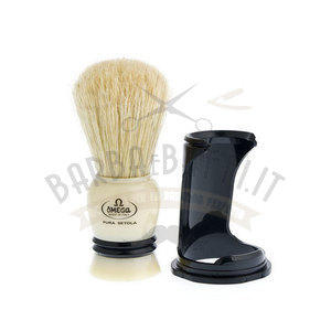 Pennello da barba in pura setola con Supporto Omega 80067