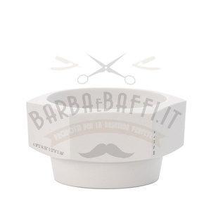 Ciotola Saponata Esagonale in Ceramica Bianca Muhle RN HXG Tazze e ciotole da barba
