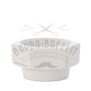 Ciotola Saponata Esagonale in Ceramica Bianca Muhle RN HXG