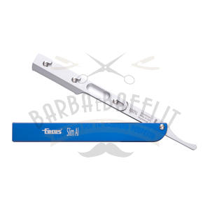 Rasoio Focus Slim AL R28 Manico Alluminio Blu mezza lama