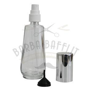 Spruzzo vetro trasparente con tappo nichelato argento