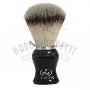 Pennello da barba in fibra sintetica HI-BRUSH Omega 46206