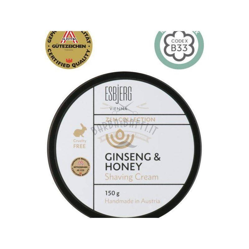 Shaving Cream Ginseng e Honey Esbjerg 150 gr.