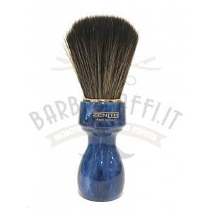 Pennello Barba Professionale Synt Dark Manico Blu Cobalto Zenith 507BC