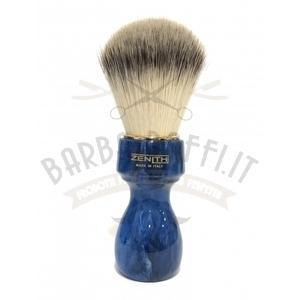 Pennello Barba Manico Cobalto Ciuffo Syntetic Zenith 507BC