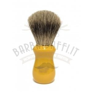 Pennello Barba Manico Butterscotch Ciuffo Best Badger Zenith 502BK