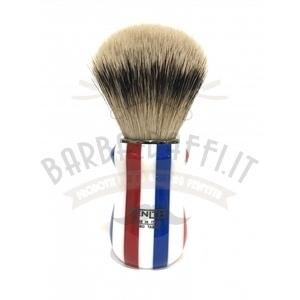 Pennello Barba Manico Barber Pole Ciuffo Silvertip Zenith 502BP