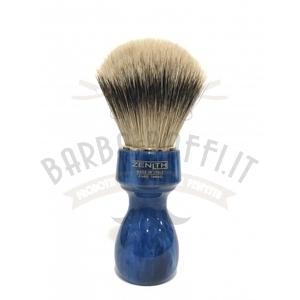 Pennello Barba Manico Cobalto Oro Ciuffo Silvertip Zenith 507BC
