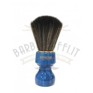 Pennello Barba Profess. Synt Dark Manico Blu Cobalto Zenith 506BC