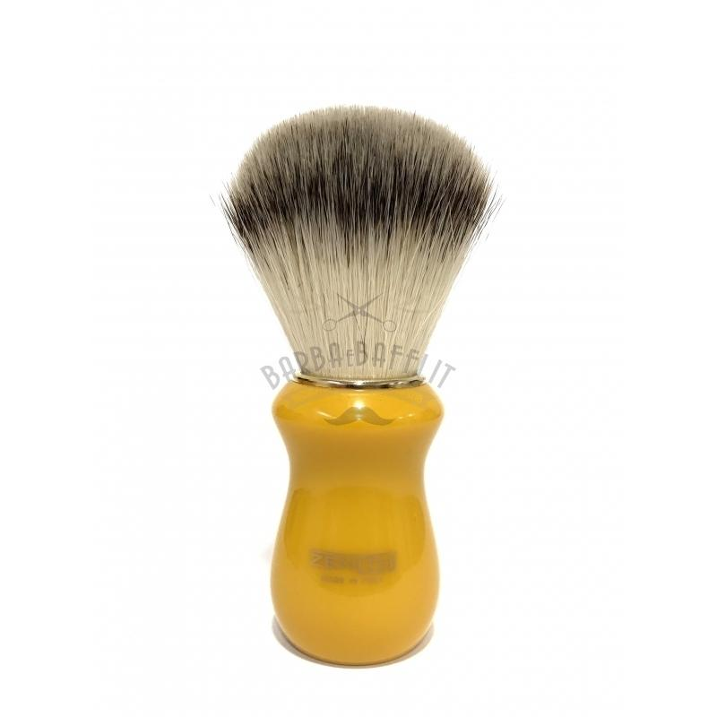 Pennello Barba Manico Butterscotch Ciuffo Syntetic Zenith 502BK