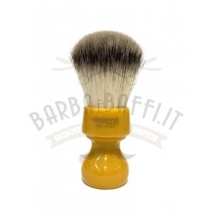Pennello Barba Manico Butterscotch Ciuffo Syntetic Zenith 506B