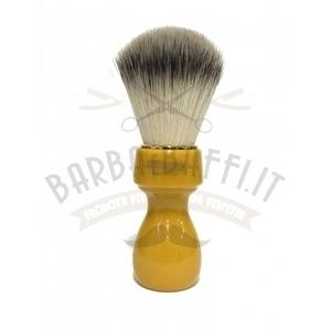 Pennello Barba Manico Butterscotch Ciuffo Syntetic Zenith 507B
