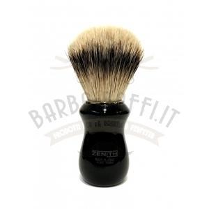 Pennello Barba Manico Nero Nic Ciuffo Silvertip Zenith 502N BR