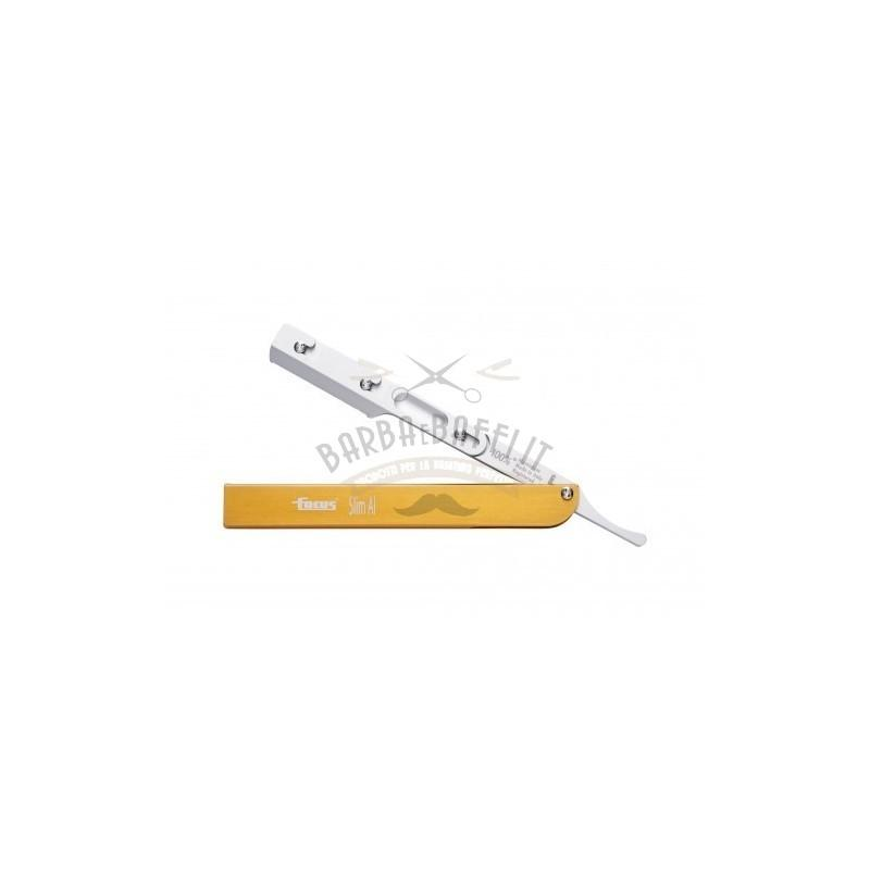 Rasoio Focus Slim AL R28 Manico Alluminio Oro mezza lama