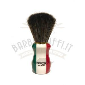 Pennello Barba Manico Resina Italia Ciuffo Synt Dark Zenith 502IF PP21