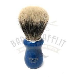 Pennello da Barba Manchurian Manico Blu Cobalto 502BCK Zenith