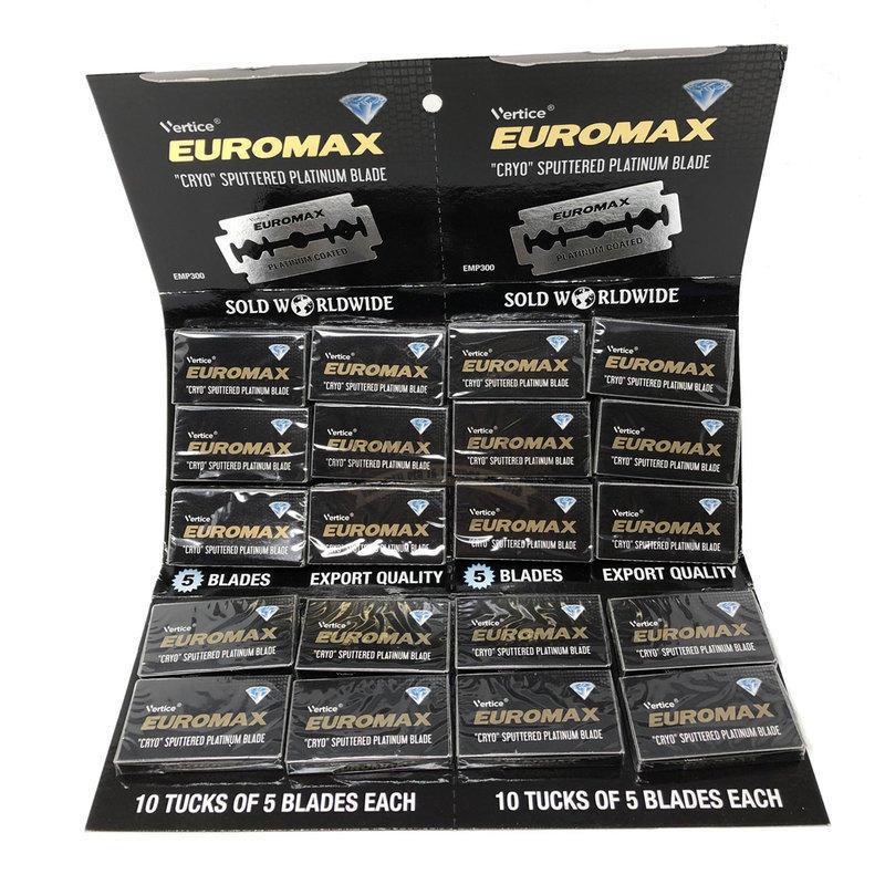 Lametta da Barba Double Edge Euromax stecca 100 lame New