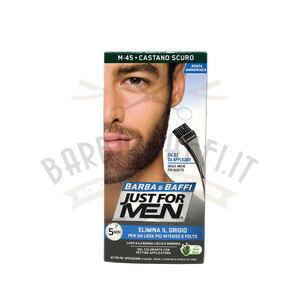 Gel colorante Barba e Baffi Just For Men Castano Scuro 14 + 14 gr