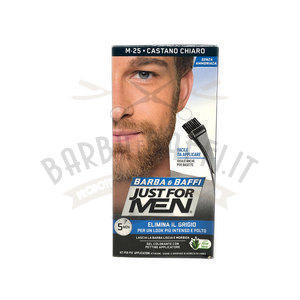 Gel colorante Barba e Baffi Just For Men Castano Chiaro 14 + 14 gr