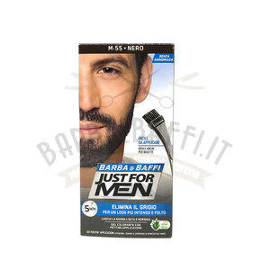 Gel colorante Barba e Baffi Just For Men Castano Nero 14 + 14 gr