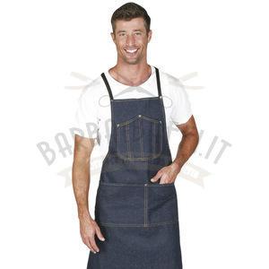 Camice Grembiule Jeans Barbiere